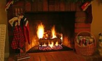 Santa Sleeps By the Fire